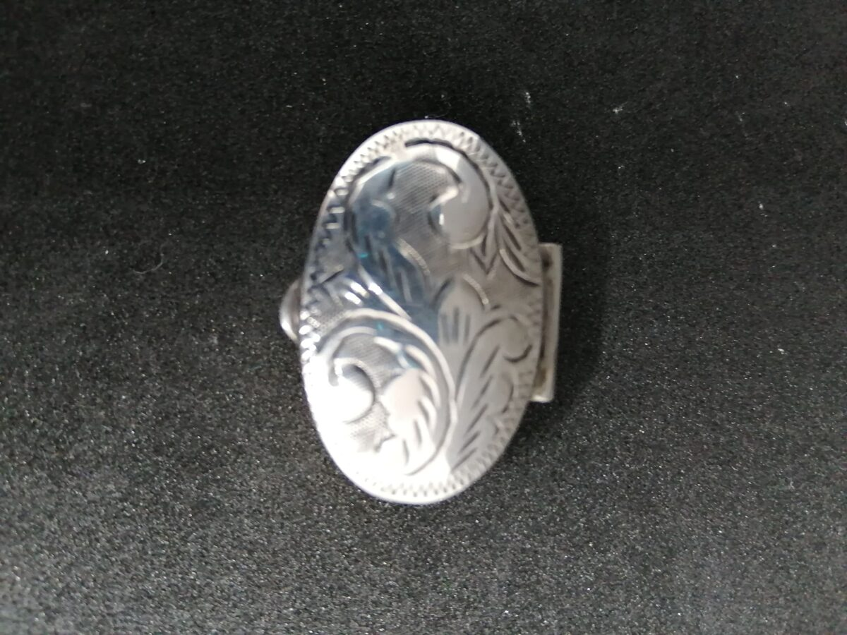 Abalone Shell Inlaid Mexican Silver Pill Box