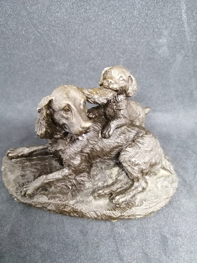 Menton Manor / Heredities Cold Cast Bronze Dogs Polly and Peter