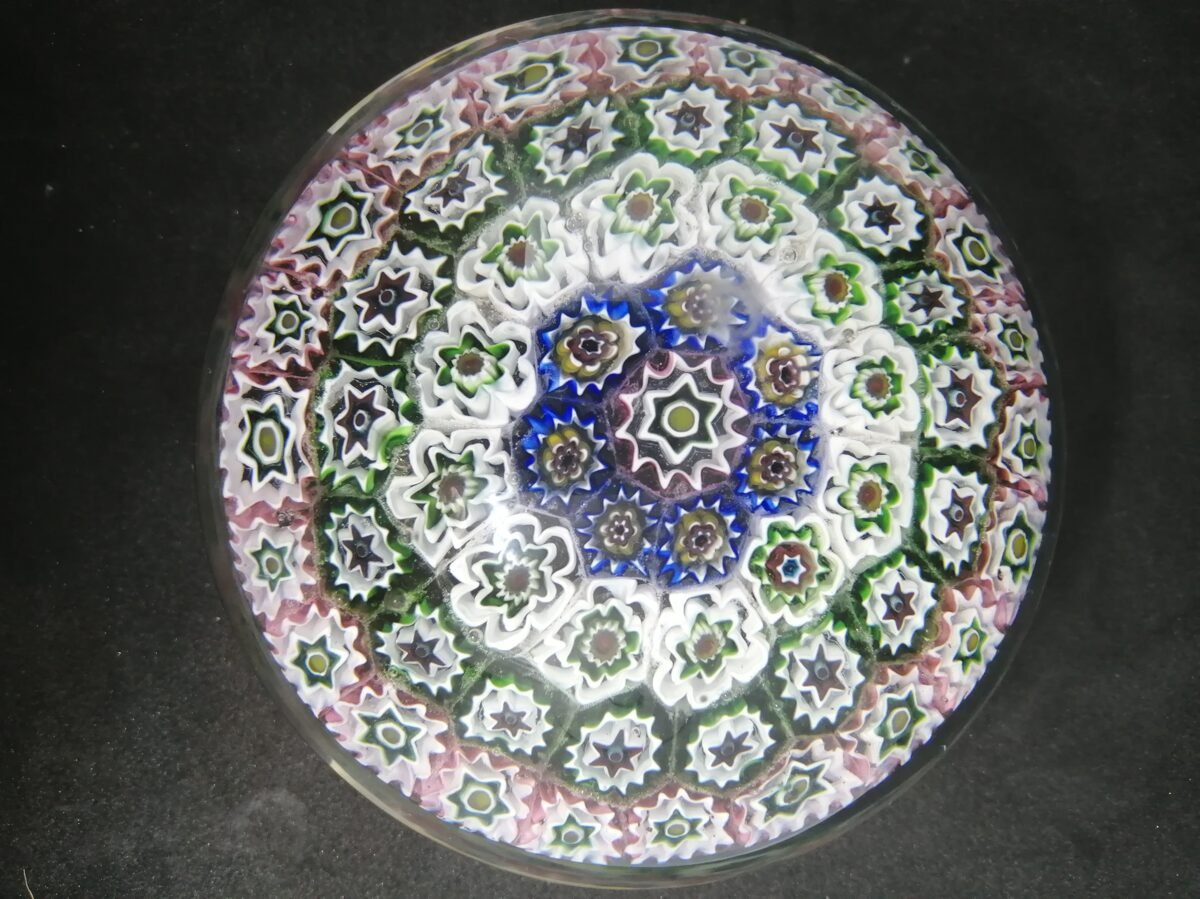 Flower Glass Art Paperweight Millefiori