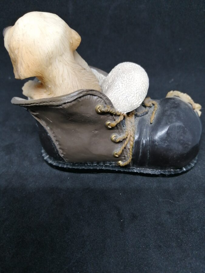 Vintage Labrador in a Boot Dog Ornament
