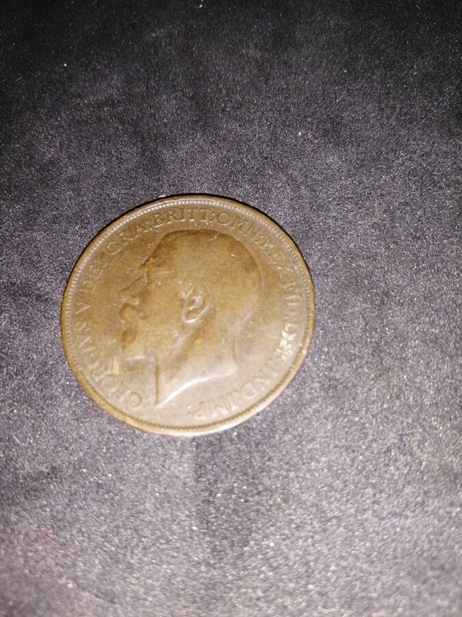 1913 King George V One Penny Coin