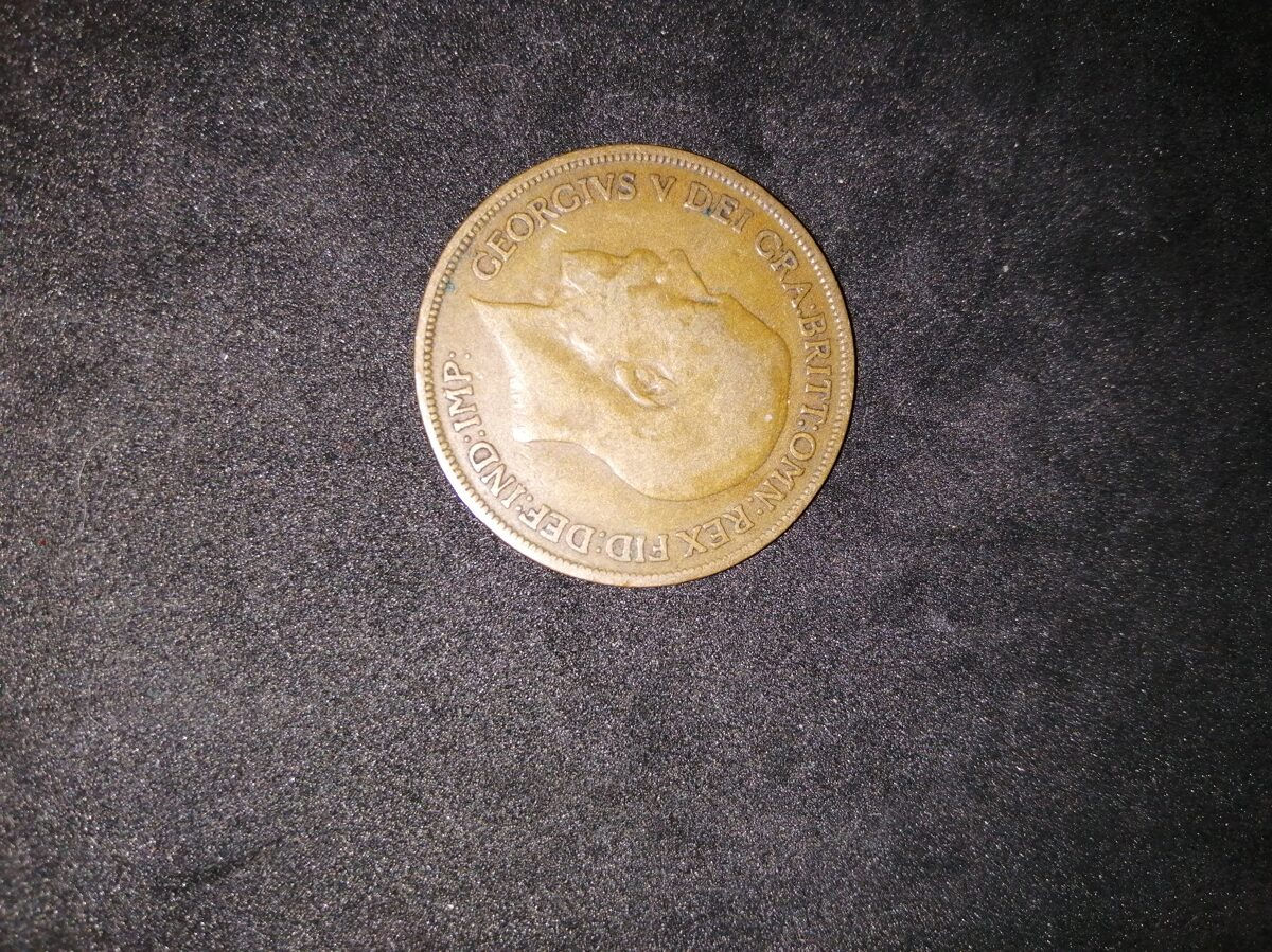 1919 King George V One Penny Coin