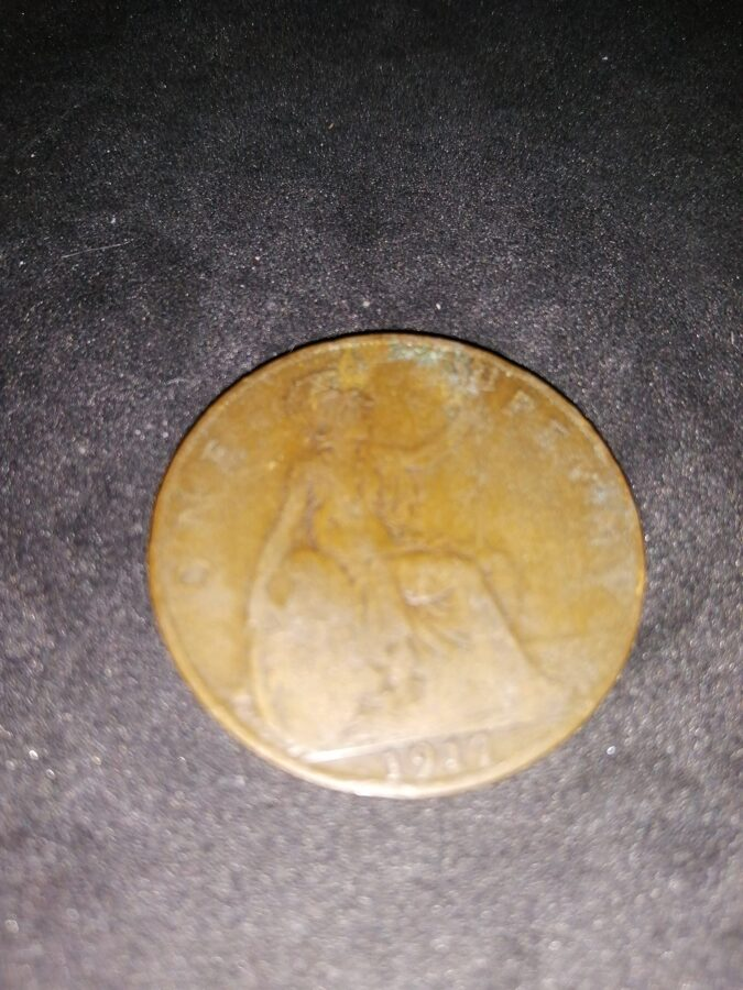 1917 King George V One Penny Coin