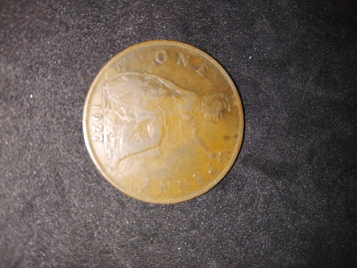 1927 King George VI One Penny Coin