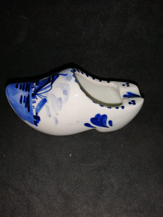 Delft Hand Painted Clog Ashtray/Pen Holder Classic Windmill
