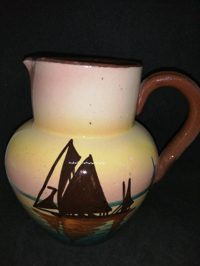 Mottoware Vintage Creamer With Sail Boat