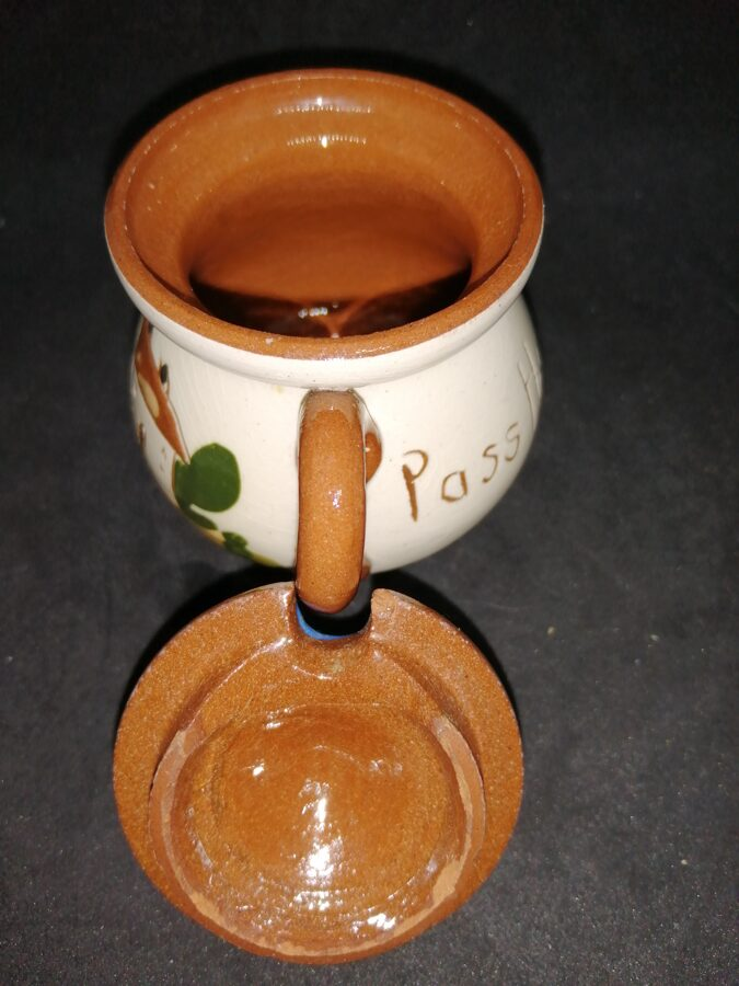 Antique Watcombe Pottery Mustard Pot