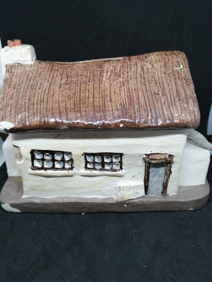 Vintage Signed Pottery Saving For A New Home Money Box