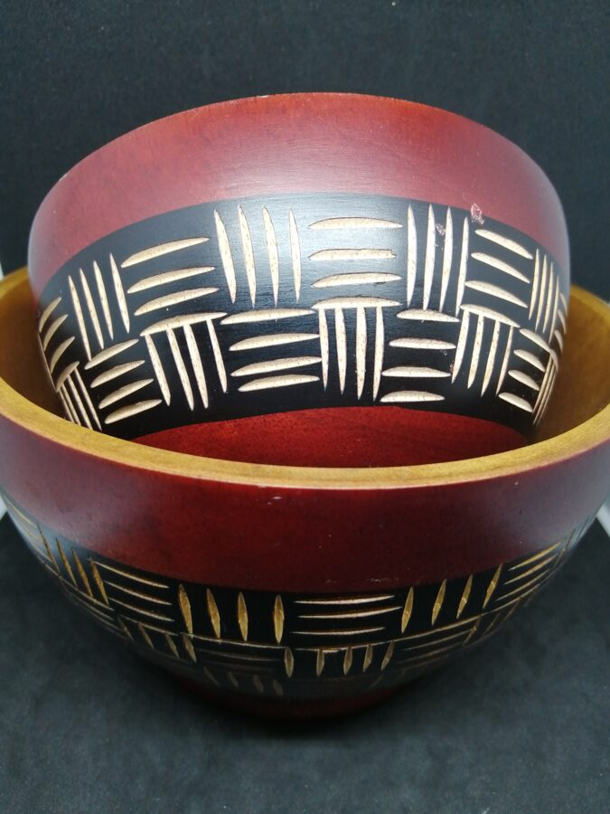 Pair Of Carved Bowls