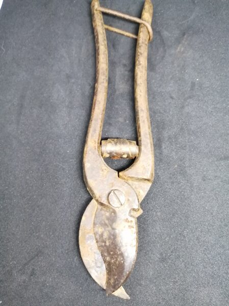 Vintage Metal Snips With Catch