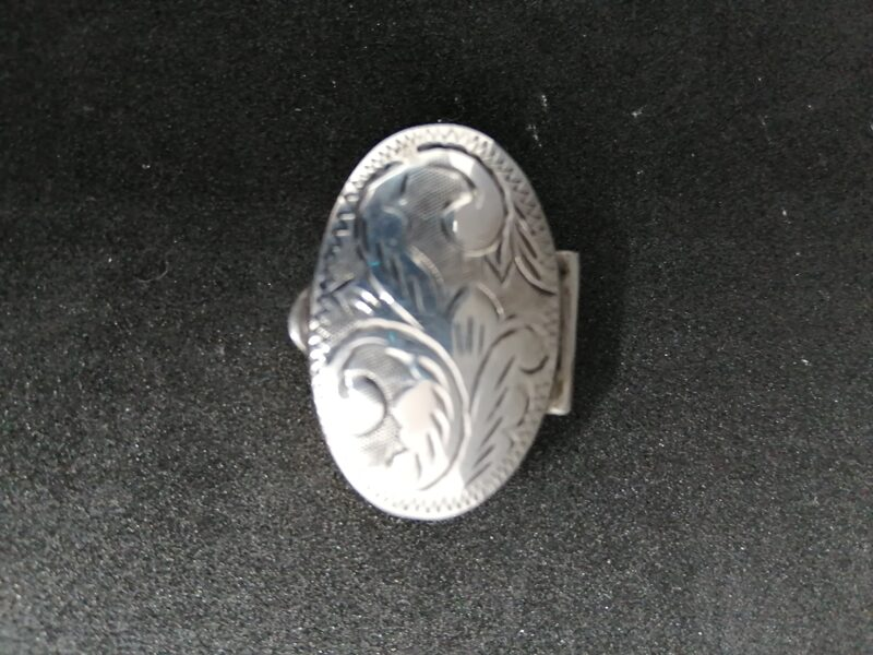 Sterling Silver Patterned Pill Box