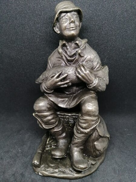 Menton Manor / Heredities  Cold Cast Bronze Fisherman Figurine