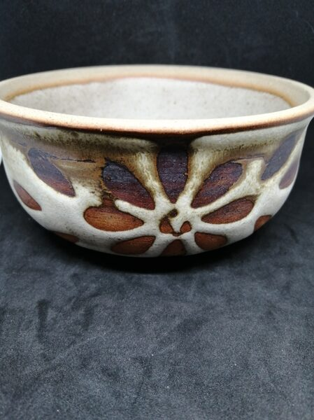 Floral Design Earthenware Trinket Dish