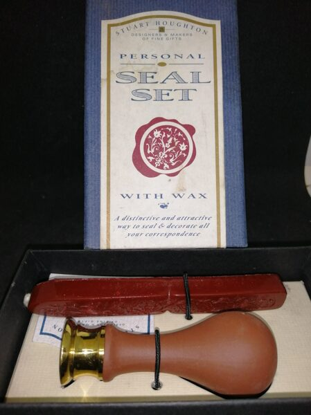 Personal Seal Set With Wax