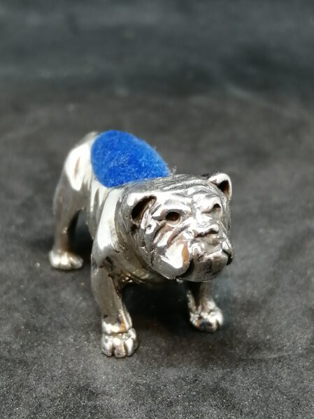 Silver British Bulldog Pin Cushion