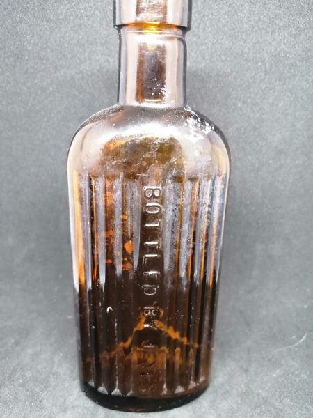 Antigue Amber Glass Medicine Bottle