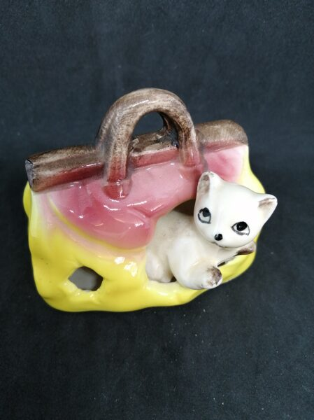 Vintage In Out Cat in a Bag