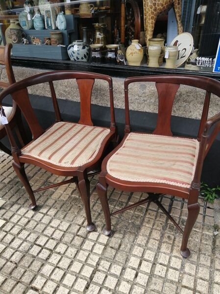 Late Victorian/Early Edwardian Pair of Chairs