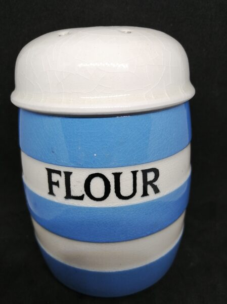 TG Green Cornish ware Rare Flour Sifter with Screw Top